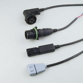 Ausgerüstet mit einem PUR-Kabel und einem Seal-Stecker ist die Sensorverbindung medienbeständig und widersteht rauesten Umwelt-bedingungen, Nutzfahrzeug-Bereich, schraubbar mit Bajonett-Verschluss in IP 67-Ausführung