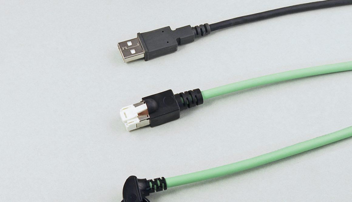 Konfektionierte und angespritzte Steckverbinder der Serien: RJ 45 gerade / gewinkelt, RJ 45 Profinet, USB A, USB B