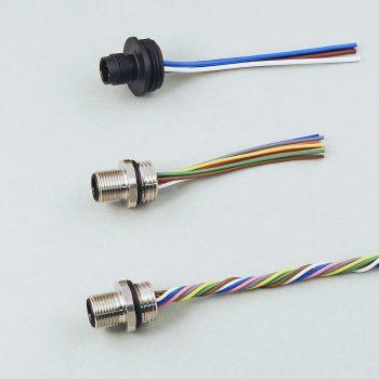 M12 Rundsteckverbinder (Geräteeinbauteile)